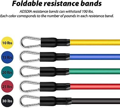 FADANY Resistance Bands Set 100LB Trainingsbänder mit 5 stapelbaren Übu