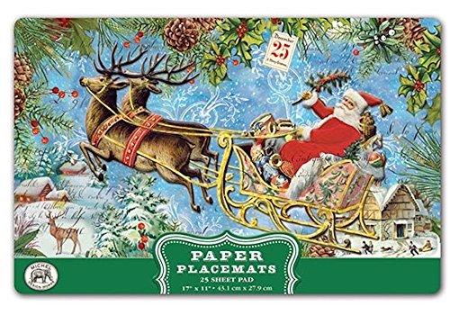 Michel Design Works PM274 25 Count Christmas Joy Paper Placemats, Multicolor (Season Placemat)