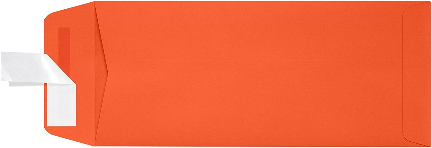 - Tangerine Orange | Perfect for Small Business Use and Invitations 4 1//8 x 9 1//2 50 Qty. #10 Open End Envelopes w//Peel /& Press
