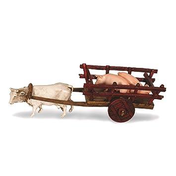 Amazon.com: Moranduzzo Carro con cerdos, multicolor, 2.4 in ...