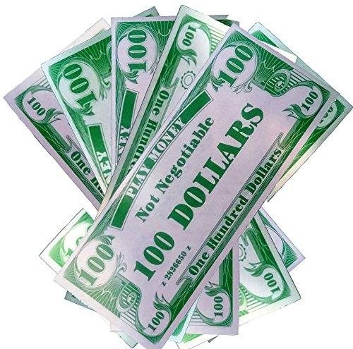 Novelty Play Phoney 1000 Pack Money Fake $100 Dollar Bills
