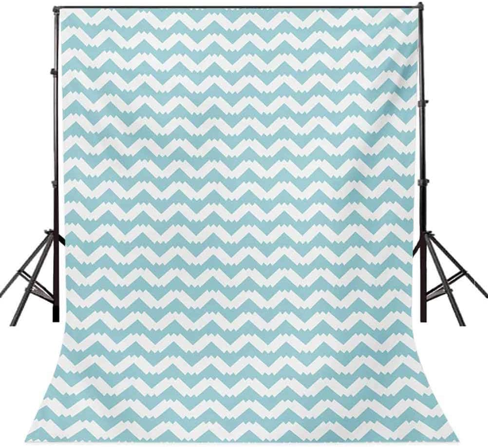 Retro 10x12 FT Backdrop Photographers,Artistic Design Chevron Wavy Pattern Zigzags Abstract Snowy Mountaintop Concept Background for Baby Birthday Party Wedding Vinyl Studio Props Photography