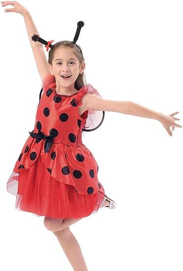 Amazon.com: IKALI Disfraz de mariquita para niñas, bailarina ...