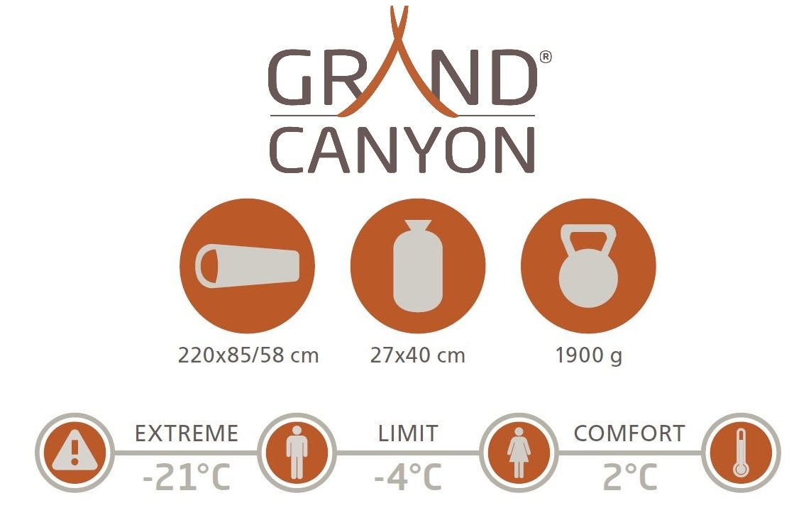 GRAND CANYON Fairbanks - saco de dormir tipo momia, 3 estaciones, oliva/negro, 601003L: Amazon.es: Deportes y aire libre