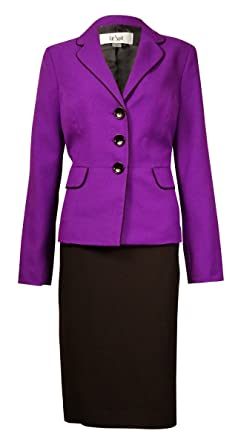 f550a791f Image Unavailable. Image not available for. Color  Le Suit Women s Monte  Carlo Contrast-Trim Pocket Skirt ...