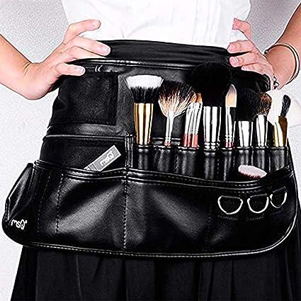 Maquillaje cepillo cinturón delantal bolsa caso multi bolsillo ...