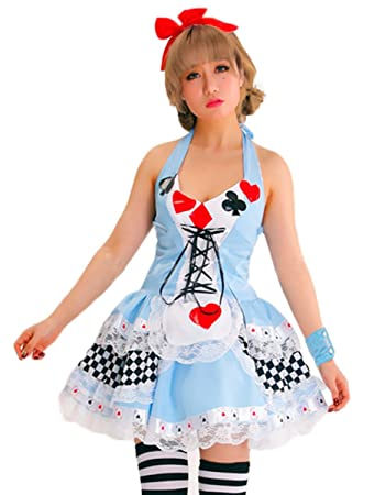 New Ladies Deluxe Alice In Wonderland Disney Costume Outfit Fancy
