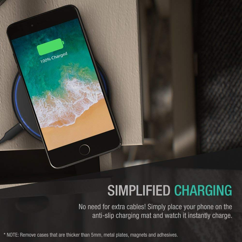 XDesign 10W Wireless Charger Compatible iPhone XS MAX, iPhone XS, iPhone XR, iPhone X, iPhone 8 8 Plus/ Galaxy S10 5G/Galaxy S9 S8 S8+ /Note 9 8, ...