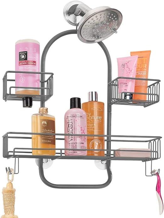 mDesign Estantería de ducha para colgar – Accesorios de ducha sin ...