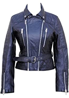 Fashion Fight Club Women's Vintage Bestzo Real Leather Motorbike qtOg5Tow