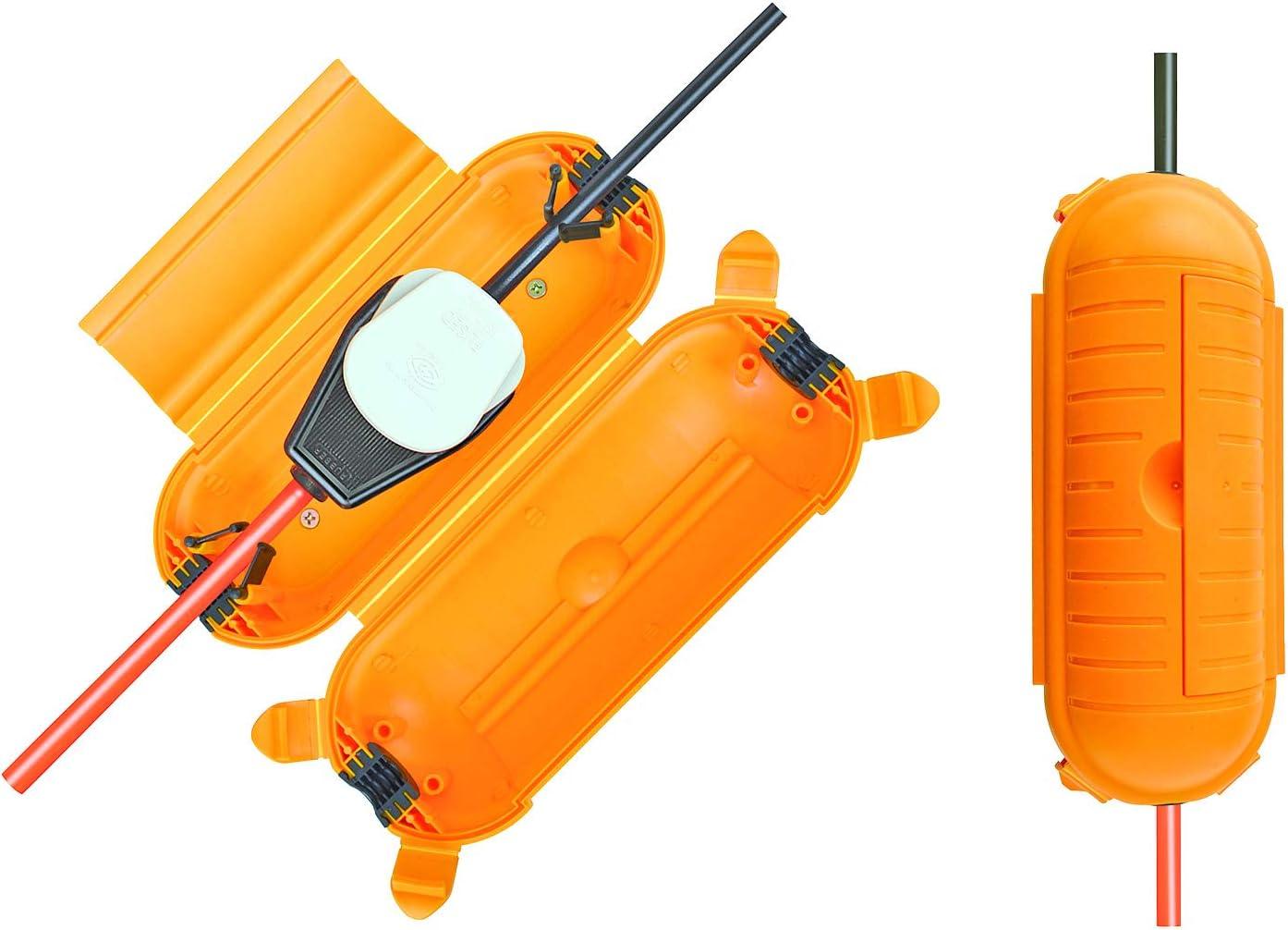 Brennenstuhl Safe Box Big Ip44 Schutzbox Für Verlängerungskabel Schutzkapsel Für Kabel Im Außenbereich Gelb Baumarkt