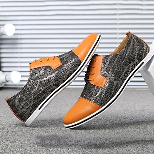 Amarillo Feidaeu Zapatos Zapatos Hombre Feidaeu Hombre UOqZ6HO