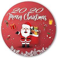 """EAOHSOAE Custom Round Flannel Blanket Merry Christmas Design 60"""""""