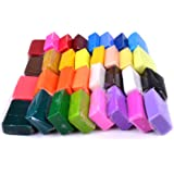 Rayinblue New 32 Starter Pack Oven Bake Polymer Clay Modelling Moulding Mixed Colour Art Toy Craft Gift for Kid Child