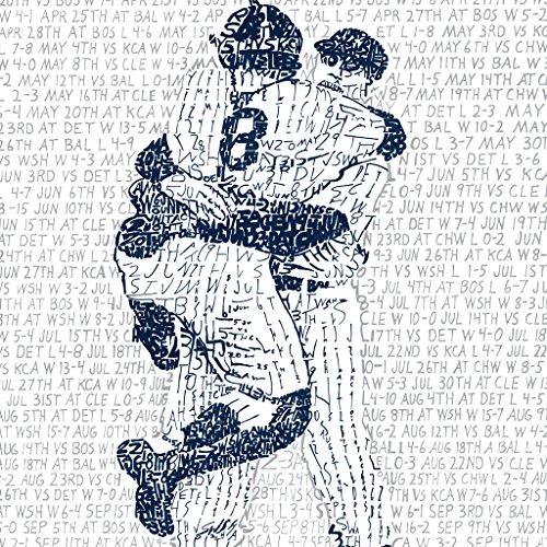 1956 New York Yankees World Series Wall Art Print - Yankees Decor - Yankees Art ()