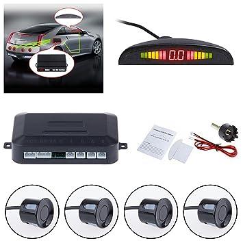 TiooDre Kit de marcha atrás para sensor de aparcamiento, aparcamiento inalámbrico, sistema de radar