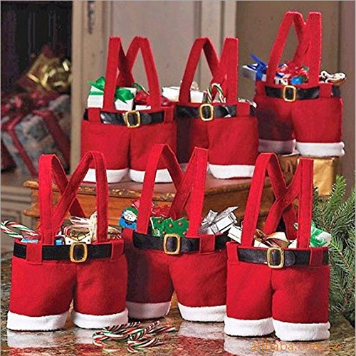 [Hot Sale Fashion Christmas Santa Pants Elf Spirit Candy Bags Xmas Decoration Sack Cute Child Gift Soft Cloth] (Vintage Blow Up Halloween Costumes)