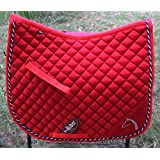 Horse Quilted ENGLISH SADDLE PAD Tack Trail Riding Red 7266