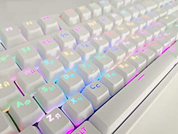 NEW replacement key caps for Logitech k750 Wireless Illuminated Gaming Keyboard