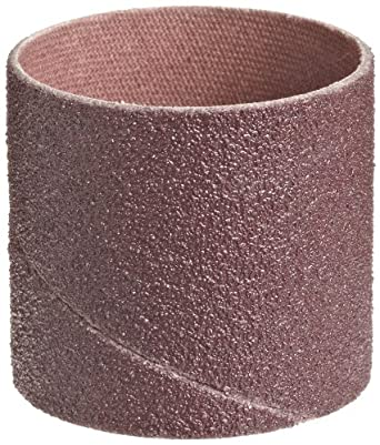 """3M  Cloth Band 341D, 1-1/2"""" Diameter x 1-1/2"""" Width, 80 Grit, Brown (Pack of 100)"""
