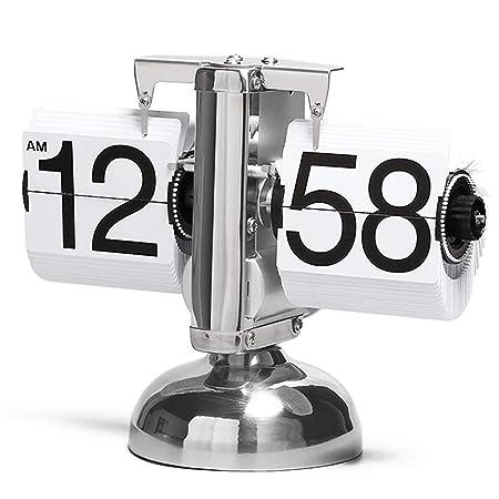 HCGZ Digital Retro Reloj de Mesa Escritorio, Mecánica Flip Reloj ...