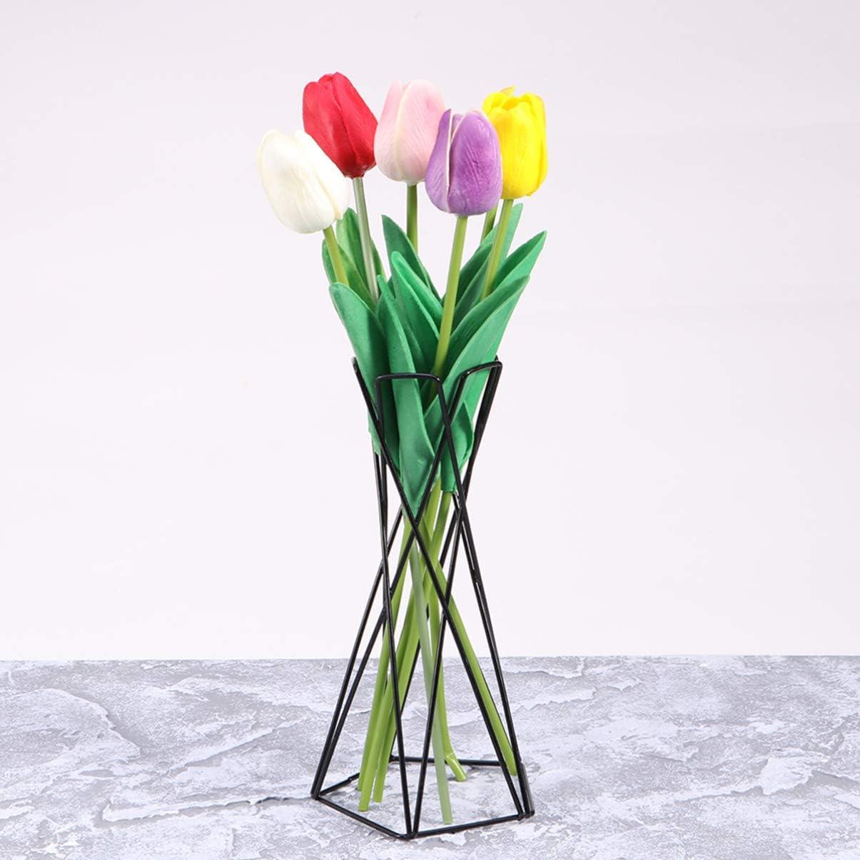 Noir Yardwe Support de Plante dair de Table Fer Creux G/éom/étrique Pr/ésentoir de Plante dair Support de Tillandsia D/écoration de Bureau /à La Maison
