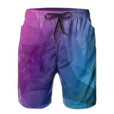 Bdna Geometry Printed Mens Beach Shorts Swim Trunks Sport Jogging Short Pants