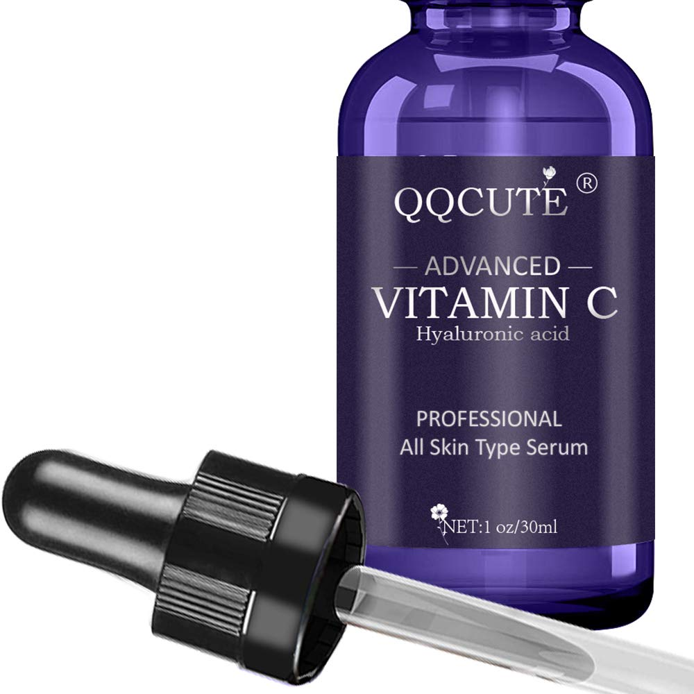 QQcute 30% Vitamin C Serum with Hyaluronic Acid, Organic Anti-aging Moisturizing Skin Care for Face and Neck with Natural Ingredients Eye & Facial Treatment Serum(1 fl. oz) by QQcute (Image #2)