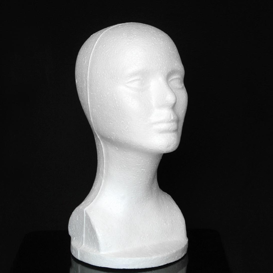 LtrottedJ Female Styrofoam Hat Glasses Hair Wig Mannequin Stand Display Head Model Chest