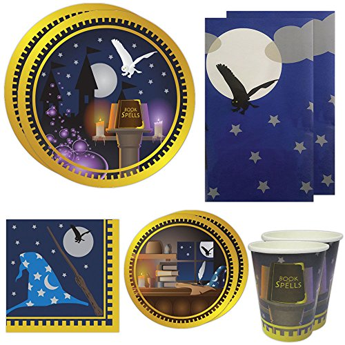 Wizard Academy Deluxe Party Packs (70 Pieces for 16 Guests!), Wizard Birthday Supplies, Great for Harry Potter, Gandalf and Other Wizard Parties! (Harry Potter Birthday Party Ideas)