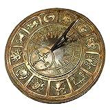 Rome Solid Zodiac Sundial, Brass