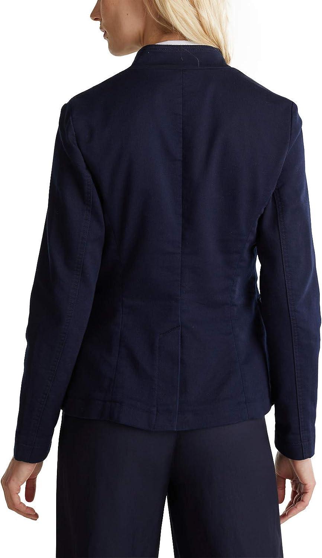 ESPRIT Blazer mit variablem Kragen Baumwoll-Stretch