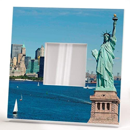 Amazon Liberty Statue Wall Framed Mirror With New York Harbor