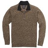 Pendleton Men's Shetland Quarter-Zip Sweater, Coffee Heather, LG