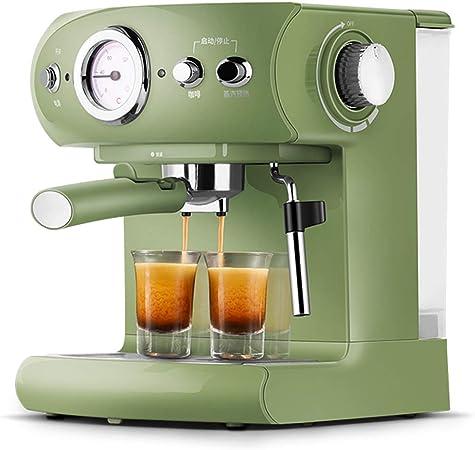 LTLWSH Cafetera Espresso, 960 W de Potencia Presión de 15 Bares Depósito de Agua de 1,5 litros, Boquilla de Vapor Termómetro Colador: Amazon.es: Hogar
