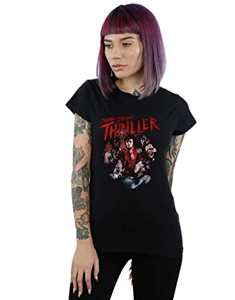 Absolute Cult Michael Jackson Mujer Hat Reveal Camiseta