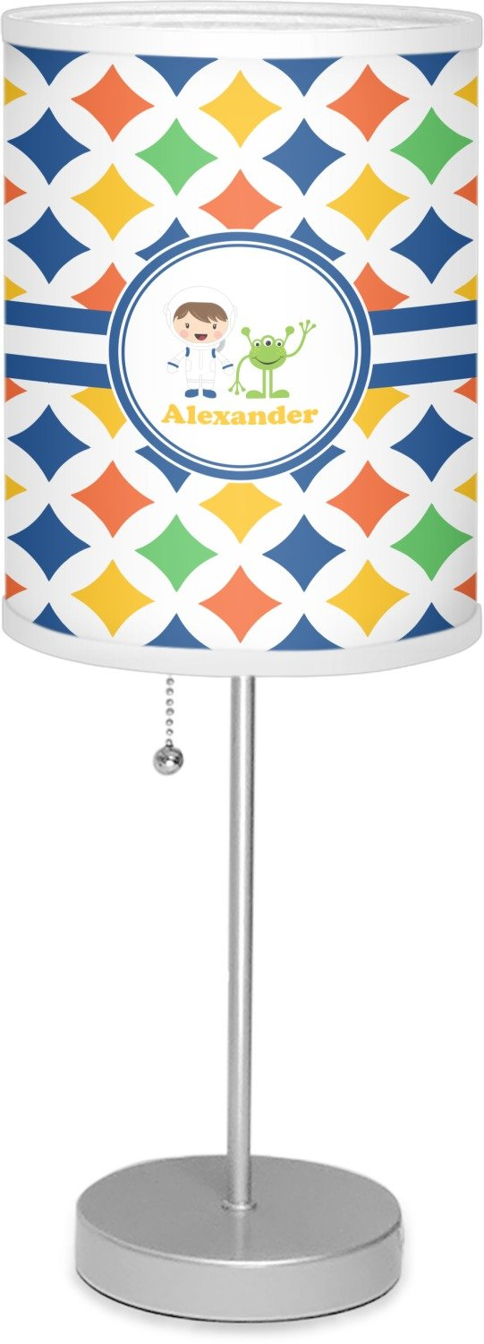 RNK Shops Boy's Astronaut 7'' Drum Lamp with Shade Polyester (Personalized)