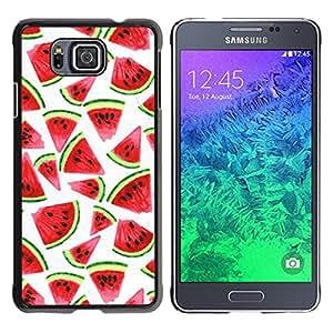 TopCaseStore / la caja del caucho duro de la cubierta de protección de la piel - Watercolor White Fruit Red - Samsung GALAXY ALPHA G850