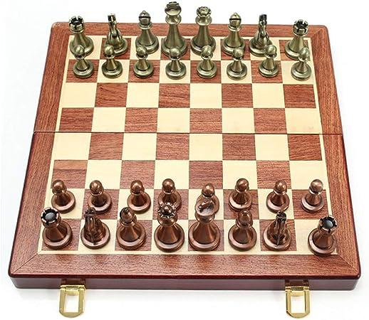 OhLt-j Juego de ajedrez for Adultos Tablero de Piezas de ajedrez de Madera Creativo Juegos