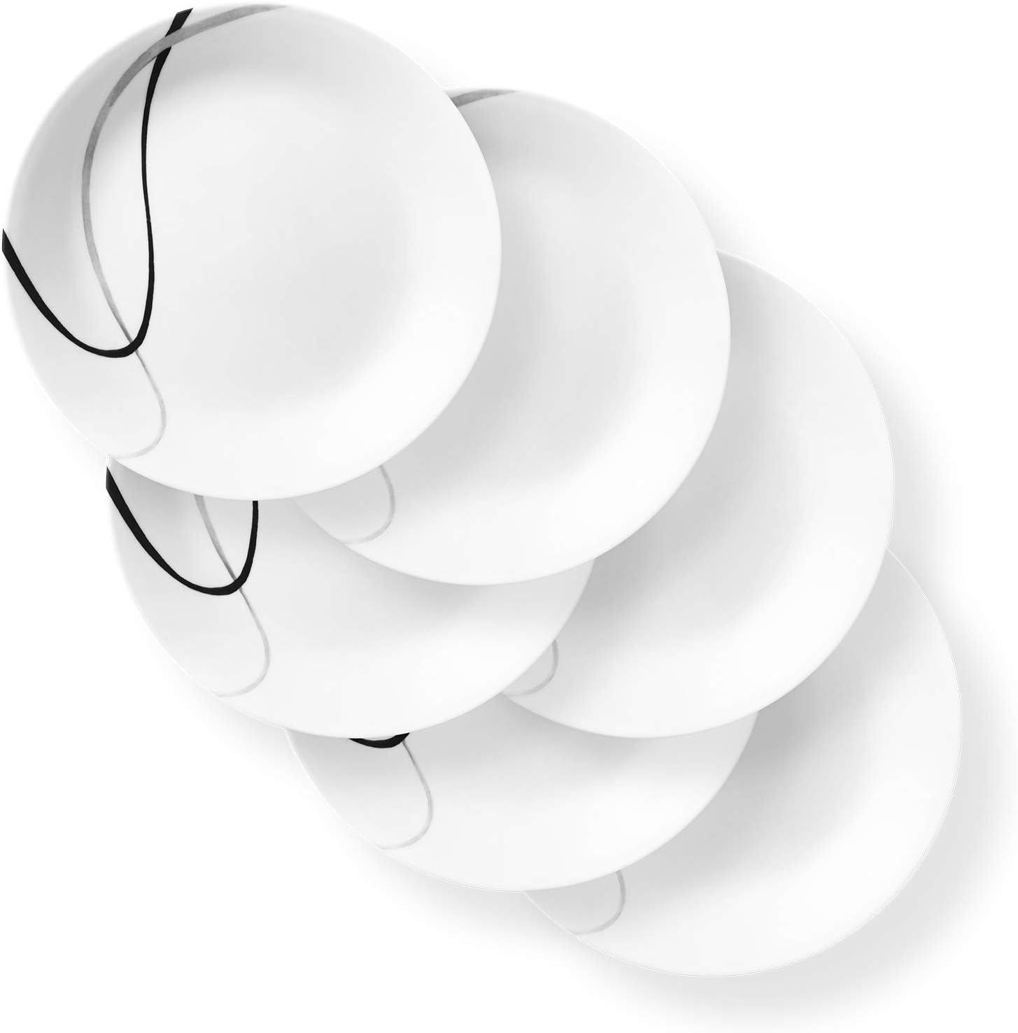 Corelle Chip Resistant Dinnerware Set, 6-Piece, City Ribbon
