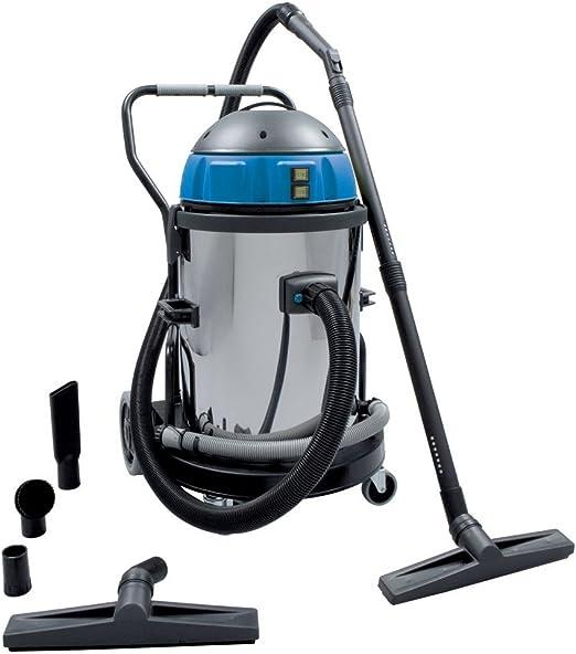 Aspirador industrial de acero inoxidable, 50 litros de agua y ...