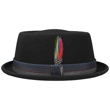 6b243e9d8fd1ae Stetson Farladey Pork Pie Wool Felt Hat Men | at Amazon Men's ...