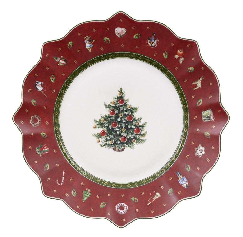 Christmas Tablescape Décor - Villeroy & Boch red Christmas Toy's Delight salad plate