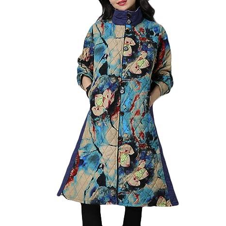 LILICAT® Abrigo de Invierno de Talla Grande para Mujeres Folk, Personalizado Algodón Acolchado,