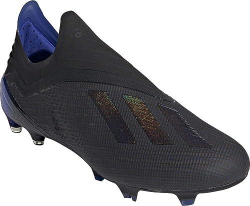 adidas X 18+ FG, Bota de fútbol, Core Black-Bold Blue,