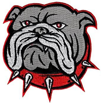 Amazon.com: Bulldog Patch Embroidered Iron-On Dog Applique