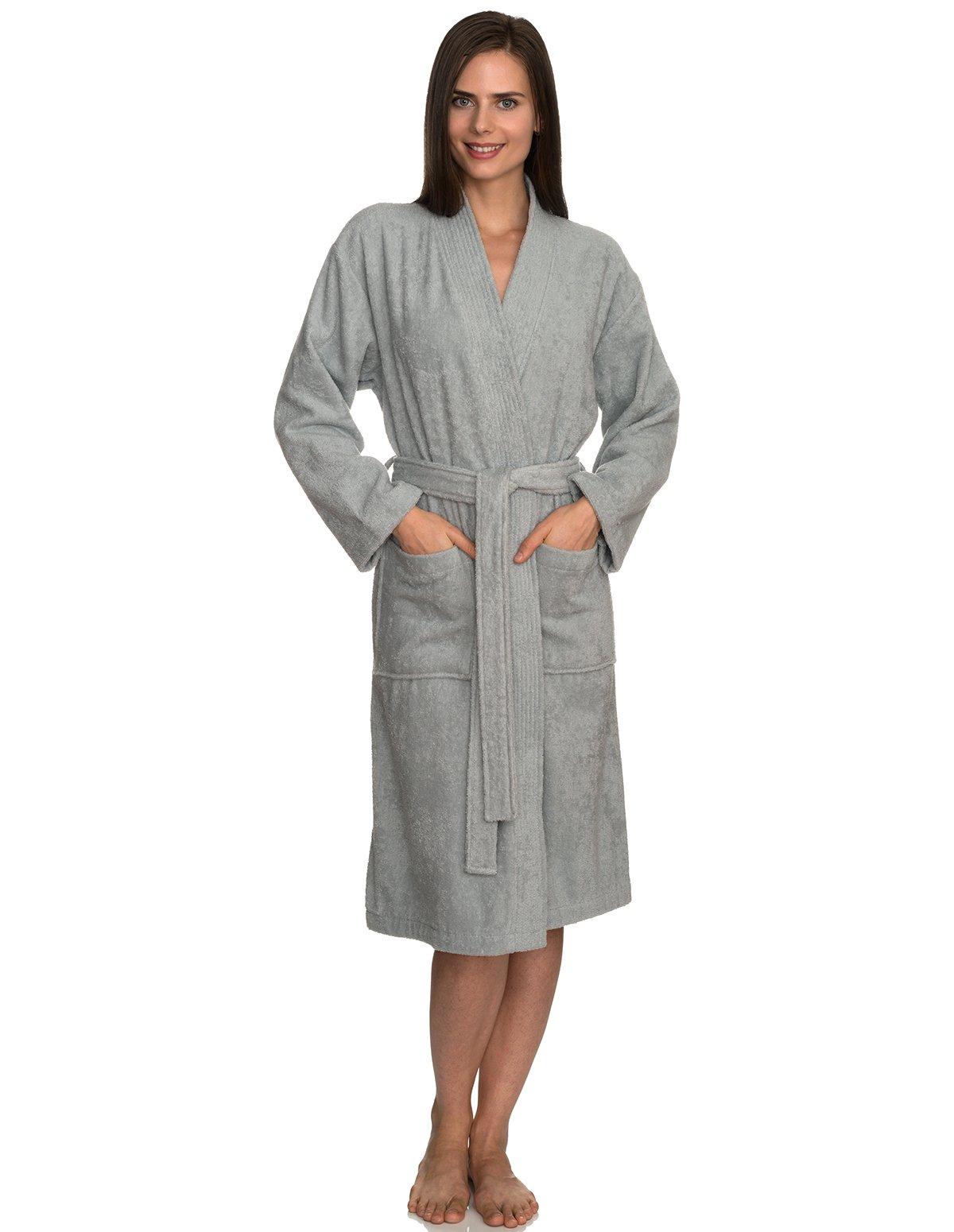 TowelSelections Women's Robe Turkish Cotton Terry Kimono Bathrobe Small/Medium High-Rise