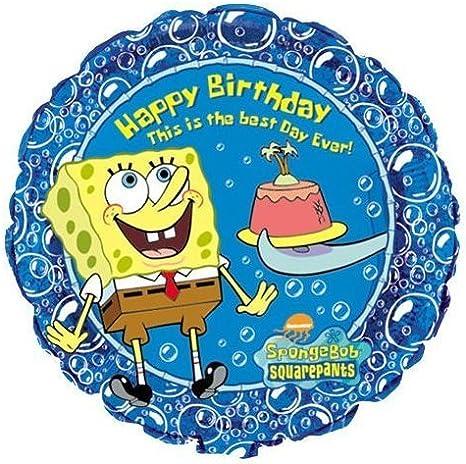 Amazon.com: Bob Esponja Feliz cumpleaños 18