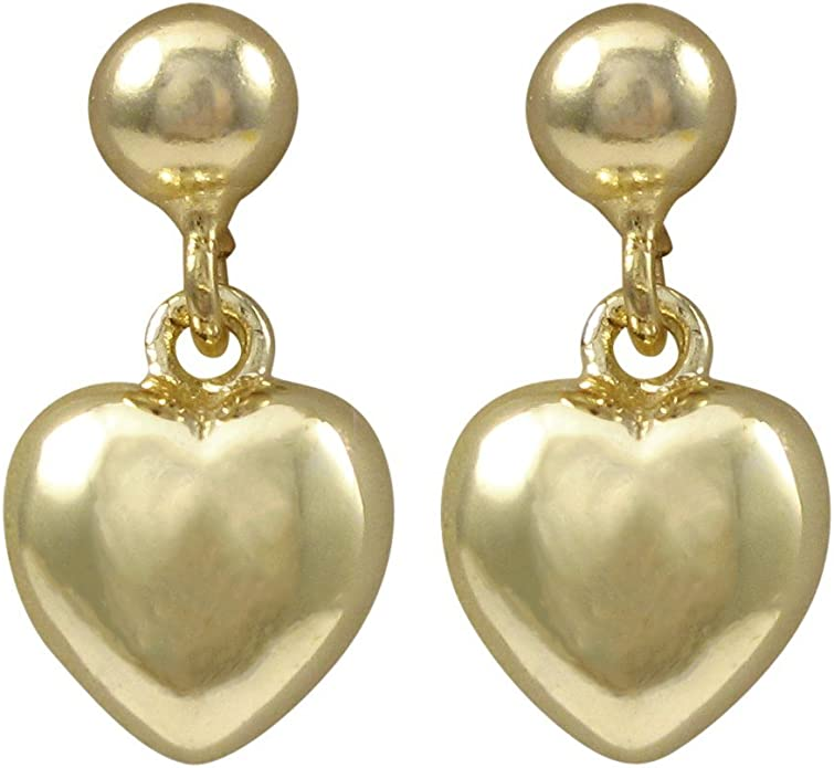 Ivy and Max Gold Finish Enamel Flowers Girls Dangle Earrings