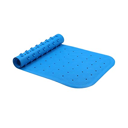 ITrunk Non Slip Bathtub Mat, Anti Bacterial Natural Rubber Tub Mat With High